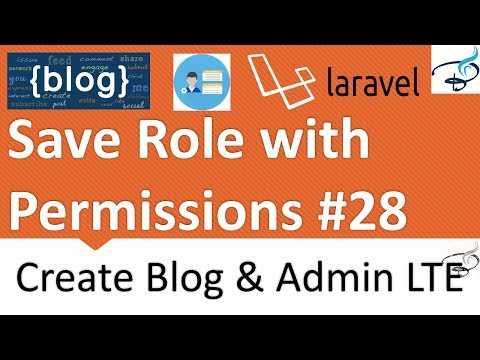 Save Role with Permissions