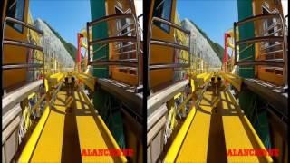 Video vr montagne russe pour casque realité virtuel