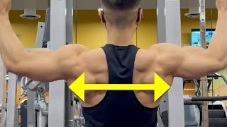 To Build a WIDER Back, DO THESE‼️