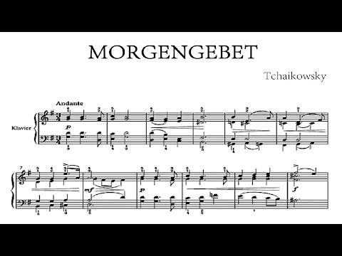 Tchaikowsky - Morgengebet (Morning Prayer) - piano accompaniment