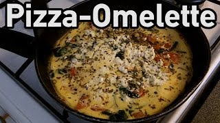 Pizza omelette - Post workout meal