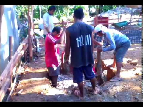 Building a house in Southern Leyte Philippines part 4. Digging the foundation.