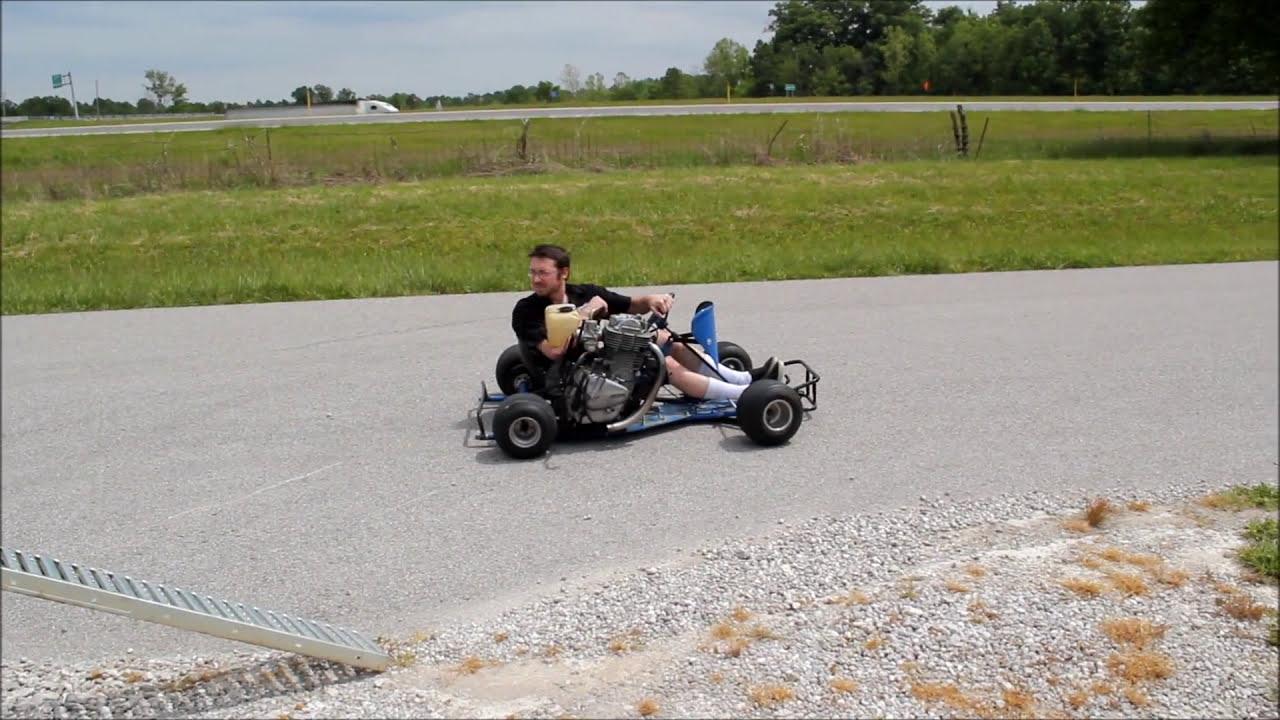 Go Kart With Motorcycle Engine !!!!!!! Shifter Kart  Greg Mosier 01:08 HD