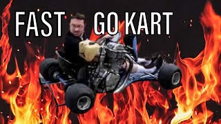 Go Kart With Street Bike Engine!!   Holy Sh#t