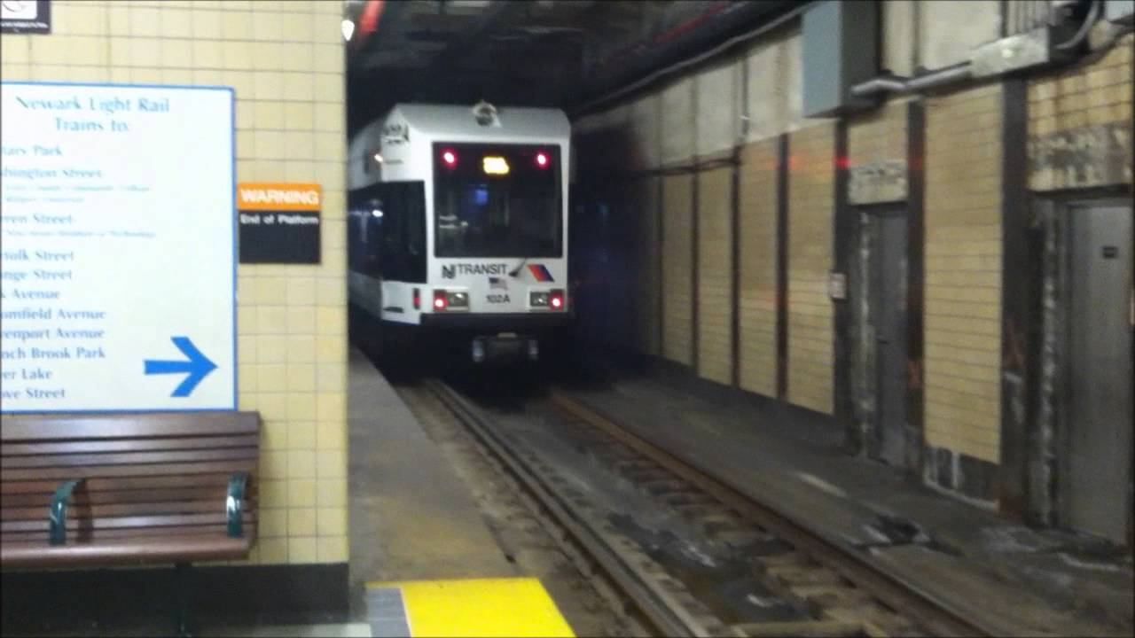 Cars Com Nj >> Newark Light Rail Trains in Newark Penn Station - YouTube