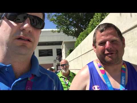 Mike Shapiro at Special Olympics World Games.