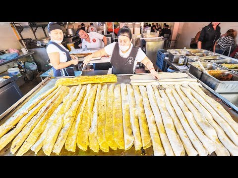 MASSIVE Mexican STREET FOOD Tour in MEXICO CITY! MACHETE TACOS + SPICY TACOS AL PASTOR from HEAVEN!