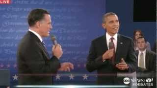 Second Presidential Debate 2012: Obama Tells Romney, My Pension
