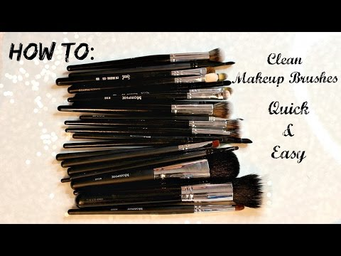 How to Clean Makeup Brushes Fast   Natural & Synthetic