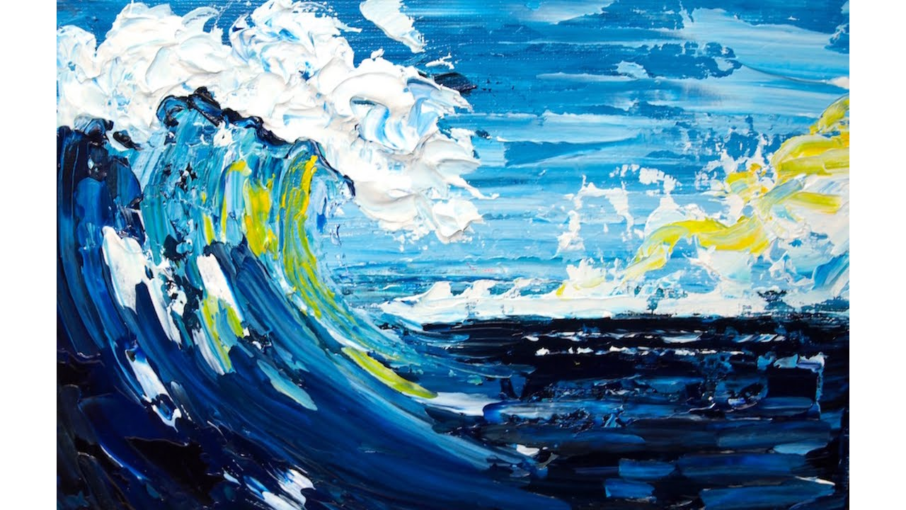 pallet knife seascape beginner