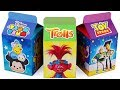 Unboxing Handmade Milk Carton Toys Trolls Disney TsumTsum Toystory Kinder Surprise Eggs for kids