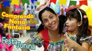 MAMÃE E FILHA COMPRANDO O VESTIDO DE CAIPIRA (FESTA JUNINA)