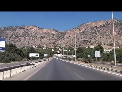 Driving from Nicosia to Kyrenia, Cyprus (Oct 17, 2015)