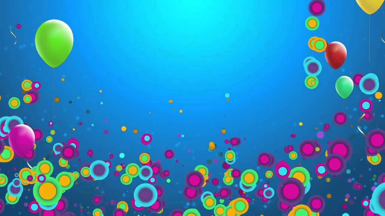 Fondo Animado Fiesta Party Globos HD Animation Backgrounds