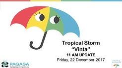 "Press Briefing: Tropical Storm ""#VintaPH"" Friday 11 AM, December 22, 2017"