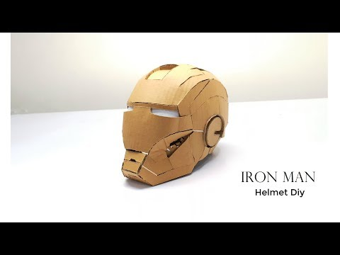 IRON MAN Helmet Diy From Cardboard