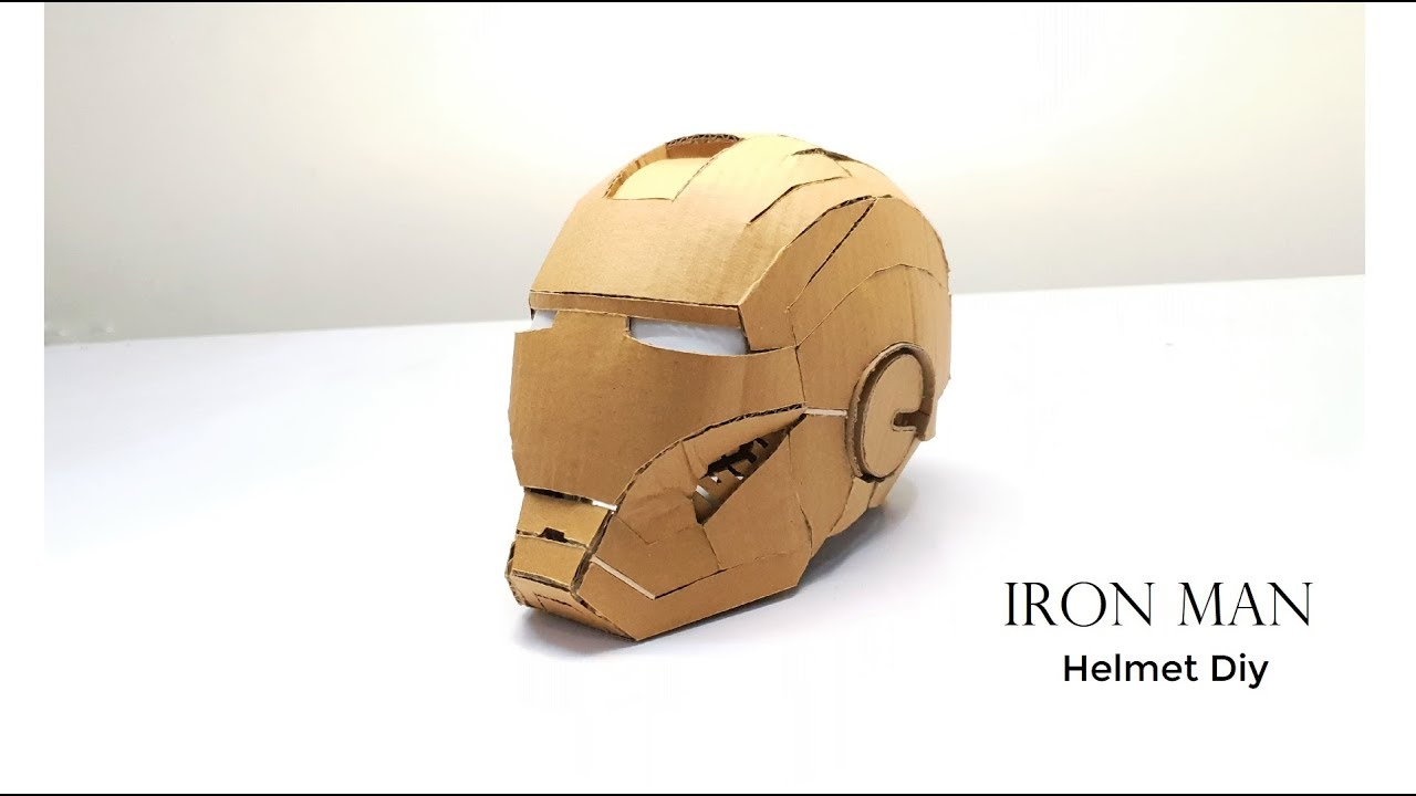 photograph regarding Iron Man Mask Printable identified as IRON Gentleman Helmet Do it yourself Versus Cardboard