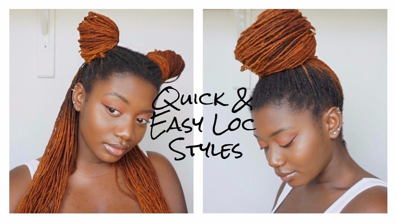 5 Quick Easy Loc Styles Youtube