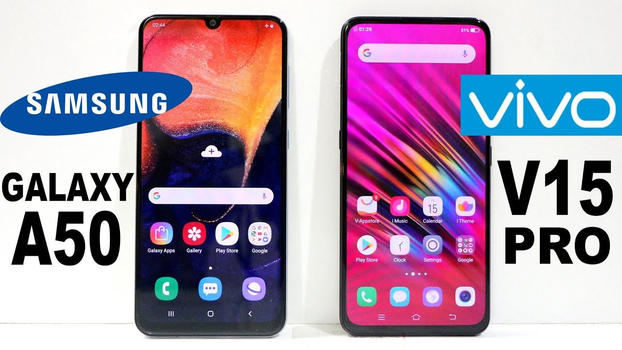 Samsung Galaxy A50 Vs Vivo V15 Pro Speed Test - YouTube