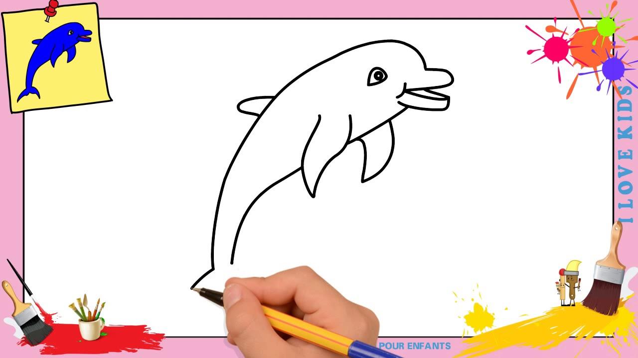 Dessin dauphin 3 facile comment dessiner un dauphin facilement etape par etape youtube - Dessiner des animaux facilement ...