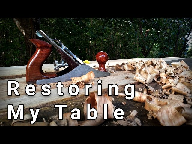 Hardwood Picnic Table | Fixing my Cedar Table for my Summer Vlog Videos