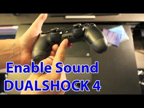 How To Enable Sound On The PS4 Controller And Use Headphones - PlayStation 4 Tips