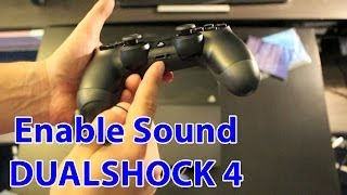 How To Enable Sound On The PS4 Controller And Use Headphones - PlayStation 4 Tips thumbnail