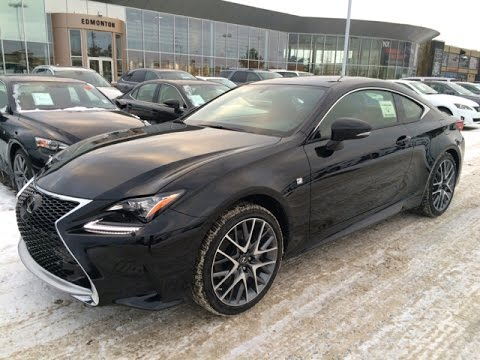 new black on rioja red 2015 lexus rc 350 awd f sport series 2 review youtube. Black Bedroom Furniture Sets. Home Design Ideas