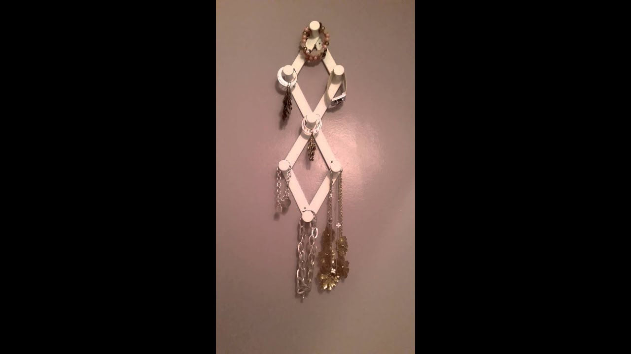 Dollar Tree CoatHat hanger DIY Jewelry organizer YouTube