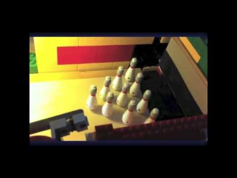 Lego bowling alley! Ball returning system - YouTube