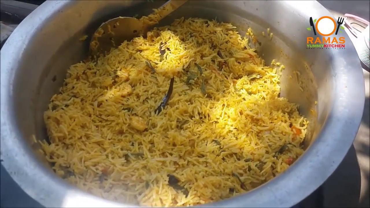 Prawn Biryani Recipe In Tamil