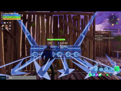 Fortnite Outlander Solo Defending Build Fort with Many Traps