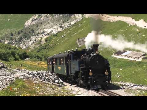 Dampfbahn Furka Bergstrecke Gletsch - Furka DFB mit Lok 1