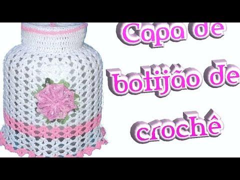 PAP Capa de Botijão de Crochê Leques/crochetando Crochê