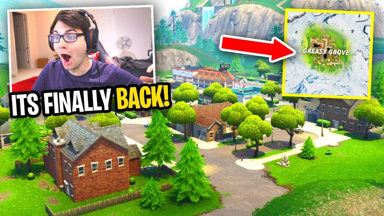 Greasy Grove is BACK IN FORTNITE! (Season 10 Map Update) thumbnail