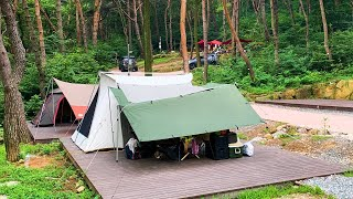 Summer Camping at Coขnty Park in South Korea - Family Camping Trip