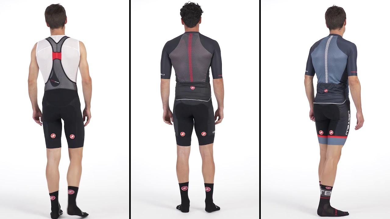 SEE Videos Castelli Men/'s Free Aero Race Bib Shorts 4 Colors