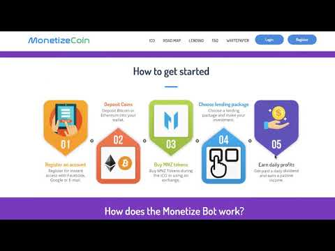 MONETIZECOIN ICO A REAL BUSINESS LENDING PLATFORM...Monetize Coin Pre-Sale Only 35-Cents
