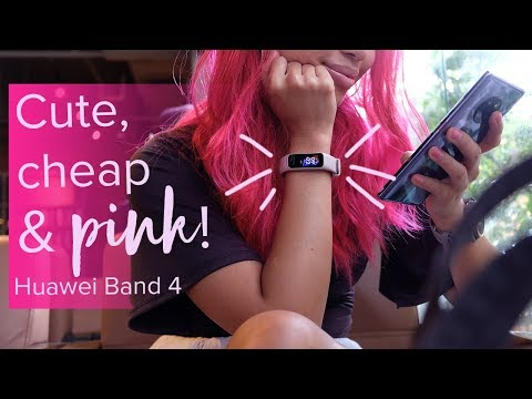 Huawei Band 4 Sakura Pink Unboxing Hands-on + GIVEAWAY