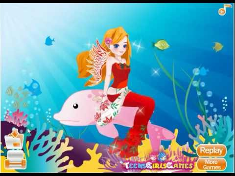 Mermaid Princess Dress Up - YouTube