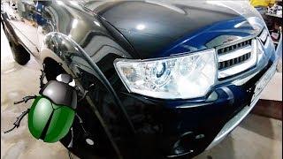 Жуки на крыше. Локальный ремонт и покраска крыши Mitsubishi Pajero Sport