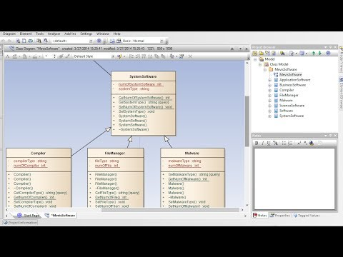 How to create class diagram from code enterprise How design com