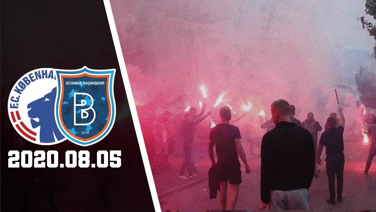 FC København vs Başakşehir 3:0 | FCK-Fans Tager Imod Spillerbus i København