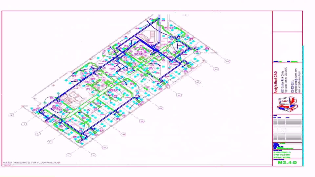 Hvac floor plan pdf youtube for Blueprints and plans for hvac pdf