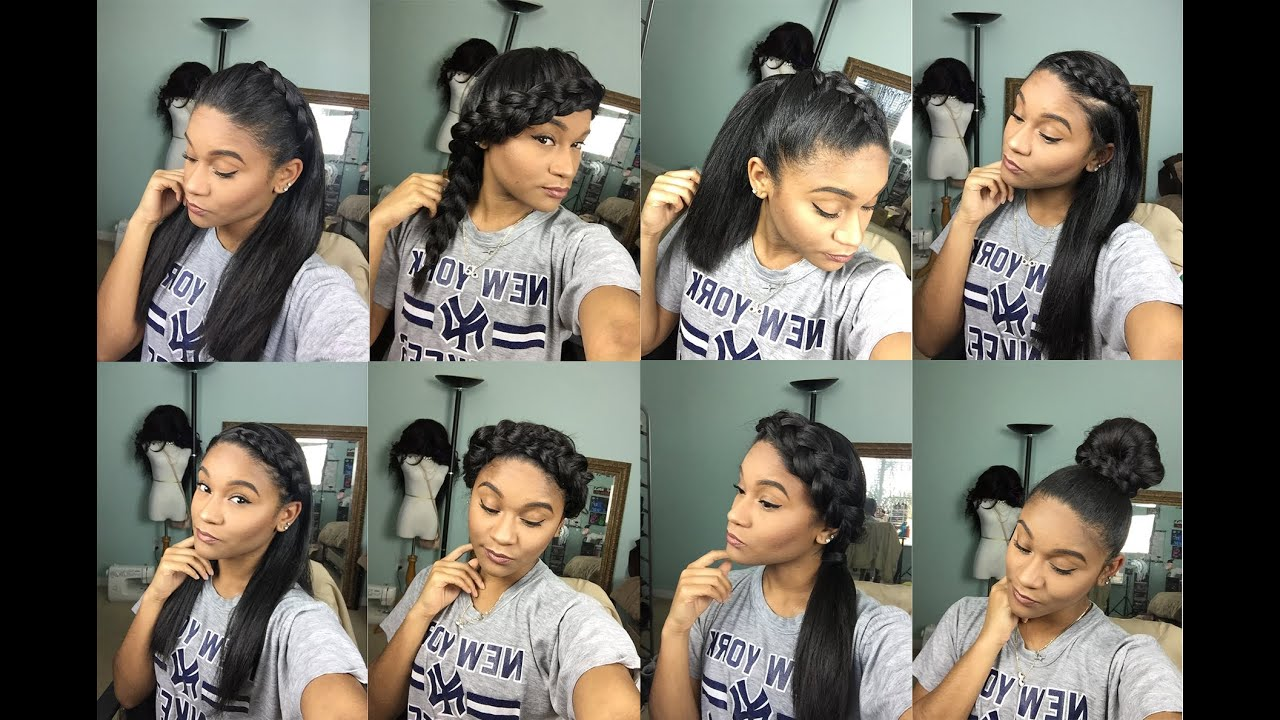Natural Hair 8 Braided Styles For Straight Hair YouTube