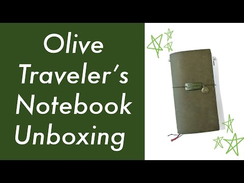 Olive Edition Midori Traveler's Notebook Unboxing | Job's Journal