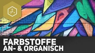 Farbmittel - Einteilung anorganische & organische Farbstoffe