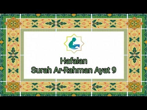 Hafalan Bacaan Surat Ar Rahman Ayat 9 Odoah