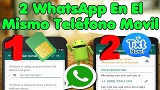 Cómo Tener Dos WhatsApp En Un Mismo Teléfono Movil | Línea Virtual...!!!