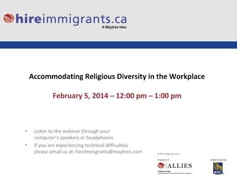 Accommodating Religious Diversity in the Workplace